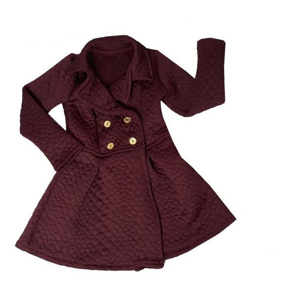 Casaco Blusa De Frio Infantil Sobretudo Menina 1 A 8 Anos