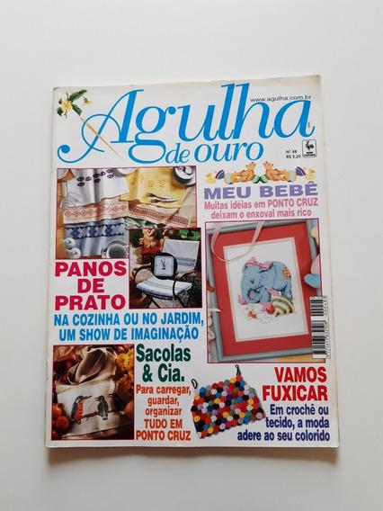 Revista Agulha De Ouro Ponto Cruz Panos De Prato Bebê D719
