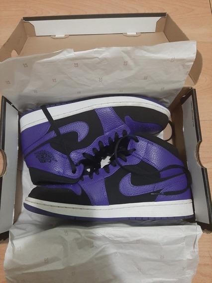 Tênis Air Jordan 1 Purple Toe