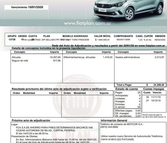 Fiat Toro - Plan De Ahorro