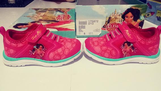 Zapatos Niña Goma Casual Princesa Disney Talla 22 Deportivo