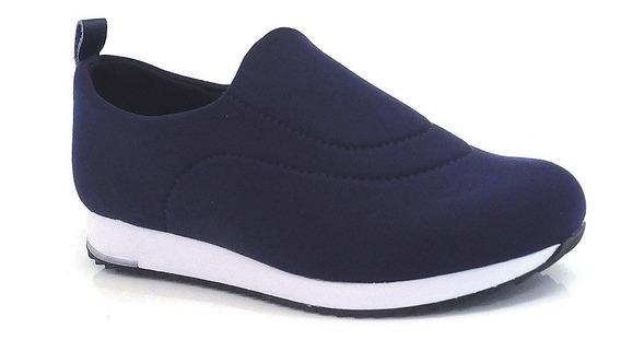 Tênis Usaflex Conforto Azul Ou Preto - V9103/50