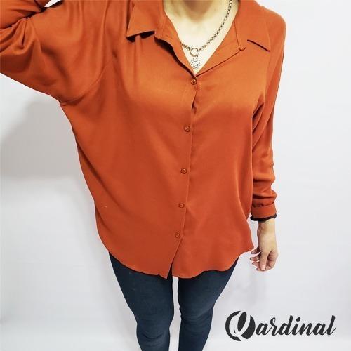 Camisa Lisa Ladrillo