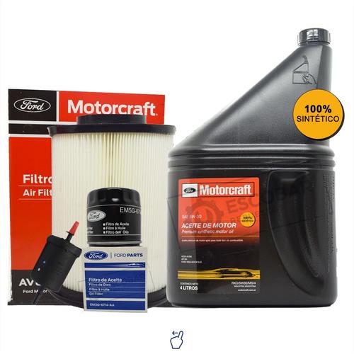 Kit 3 Filtros Ford Focus + Aceite Sintético Motorcraft 5w30