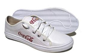 Atacado 3 Pares Tênis Feminino Casual Coca Cola + 1 Sandália