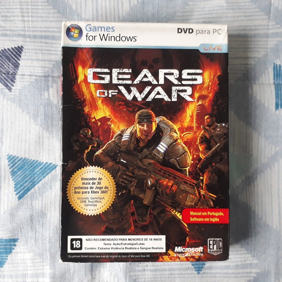 Pc - Gears Of War 1 + Caixa + Manual - Original