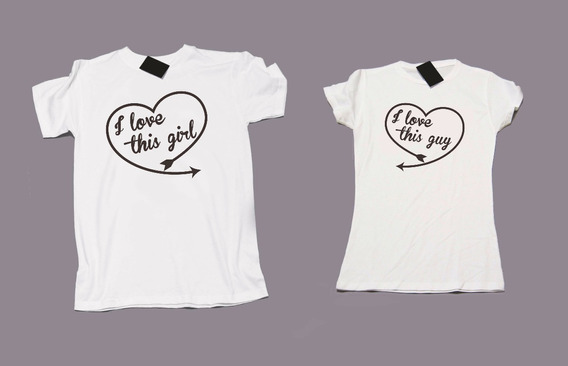Playera Parejas Novios Love Amor (precio Por 2 Pzas)