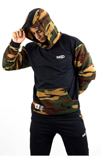 Sweaters Sudadera Negro Camuflado Inked Detal Mayor