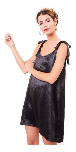 Vestido Corto De Fiesta Verano 2020 Seda Negro Cóctel Tutu