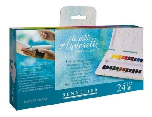 Acuarela Fina Sennelier 24 1/2 Pastillas La Petite Aquarelle