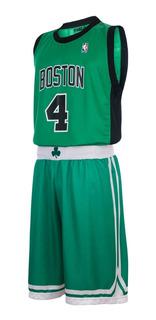Conjunto Basket Celtics Nba Camiseta Short Thomas Oficial