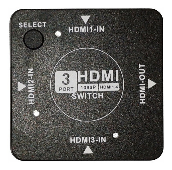 Switch Selector Hdmi 1.4 Full Hd 3 In Y 1 Out Derivador