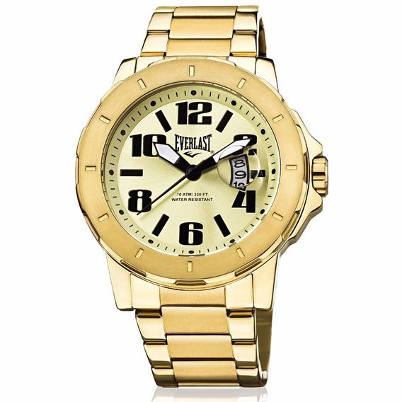 Relógio Everlast Masculino Dourado Analógico E644