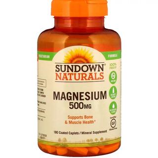 Magnésio 500mg 180 Capsulas Sundown Naturals - Importado Eua