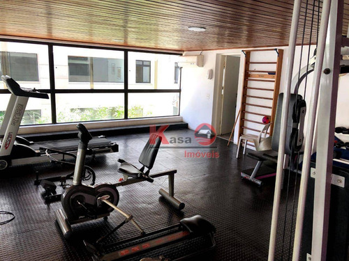 Apartamento Com 3 Dormitórios Para Alugar, 110 M² Por R$ 4.000,00/ano - Boqueirão - Santos/sp - Ap10548