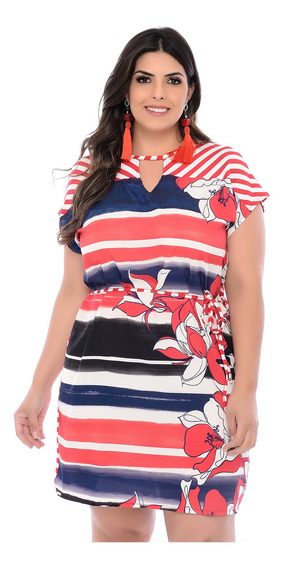 Vestido Plus Size Ibiza Estampado