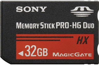 Cartão Memoria Sony 32gb Memory Stick Pro Hg Duo Hx Para Cybershot E Psp Ms Camera Pronta Entrega
