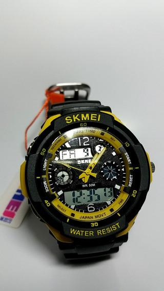 Relogio Skmei S-shock Analogico Digital Prova D