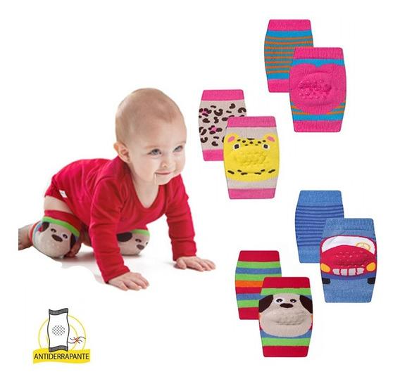 Kit 2 Joelheiras Bebê Engatinhar Antiderrapante Protetor De Joelho Para Bebês