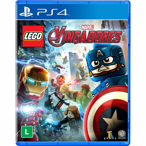 Jogo Lego Marvel Vingadores Ps4 Playstation 4 Midia Fisica