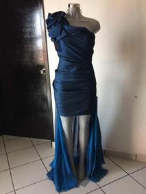 Vestido azul marino tornasol