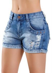 Kit Atacado 2 Shorts Hot Pants Jeans Revenda Adulto/criança