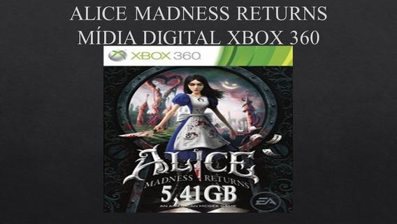 Alice Madness Mídia Digital Xbox 360