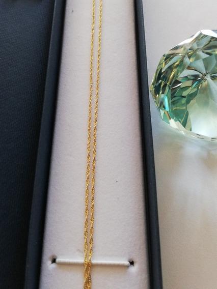 Cadena Oro 14k (ideal Para Bautizo 35cm Largo Total)