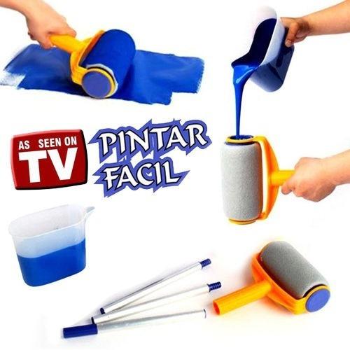 Rolo De Pintura Inteligente Pintar Facil Parede Igual Tv Kit