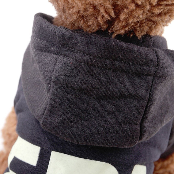 Cão Excursão Suéter Cachorro Pet Fbi Roupas Teddy Cão Mo