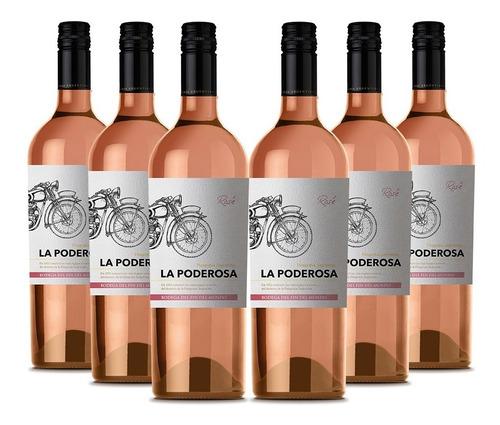 Vino La Poderosa Rosé Pack X 6 Unidades