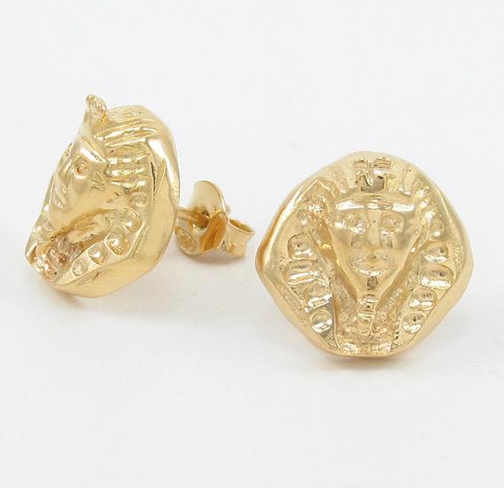 Esfinge Jóias - Brinco Egípcio Tutankamon Egito Ouro 18k