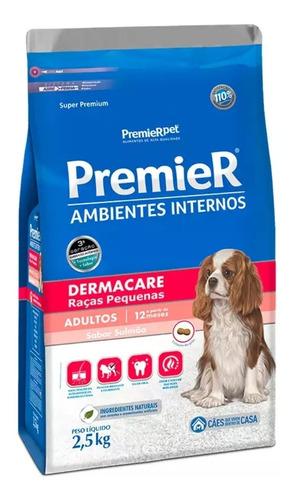 Ração Premier Dermacare Ambientes Interno Cães Adultos 2,5kg