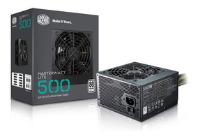 Fonte 500w Masterwatt Lite 80 Plus Cooler Master