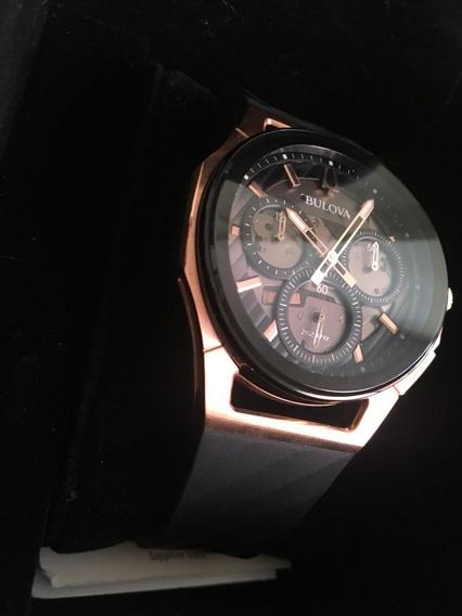 Relógio Bulova 98a185 Curve, Safire. Novo + Nota!