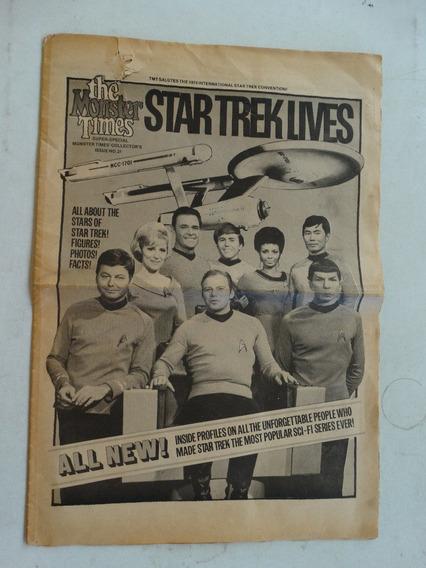 1974 The Monster Times Vg Star Trek Lives Leonard Nimoy