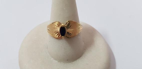 Anel Ouro 18kilates 750 Pedra Turmalina Verde