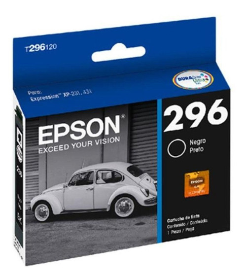 Cartucho Original Epson 296 T2961 T296120 Black Xp231 Xp241