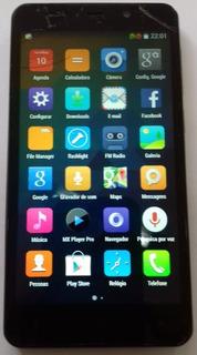 Smartphone Qbex Xgold 16gb/prata - C/defeito P/retirar Peças