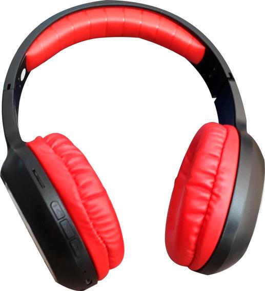 Fone Ouvido Bluetooth Mp3 Sem Fio Micro Sd Fm Vermelho