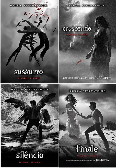 Kit Hush Hush (4 Livros) Sussurro Crescendo Silêncio Finale