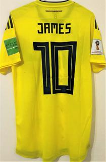 Camisa Da Colombia Copa 2018 De Jogo Autografada Todos
