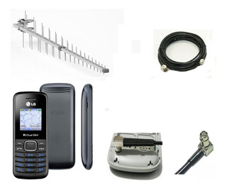 Kit Celular Rural Lg B220 + A N Tena Pro15dbi + Cabo 10mt