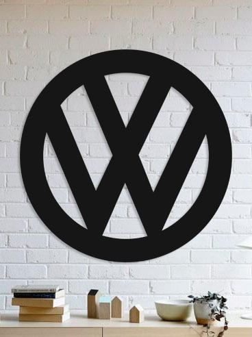Quadro Decorativo Parede Veículos Vw Logo 90cm