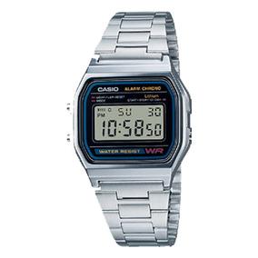 Relógio Vintage Digital Prata À Prova D