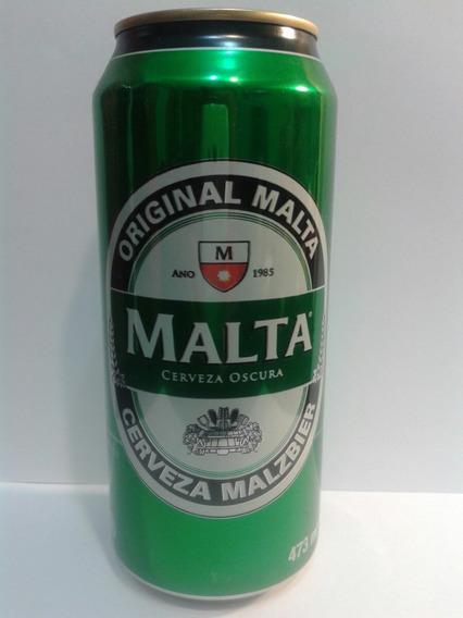 Lata De Cerveza Malta Oscura De Brasil Llena De Coleccion