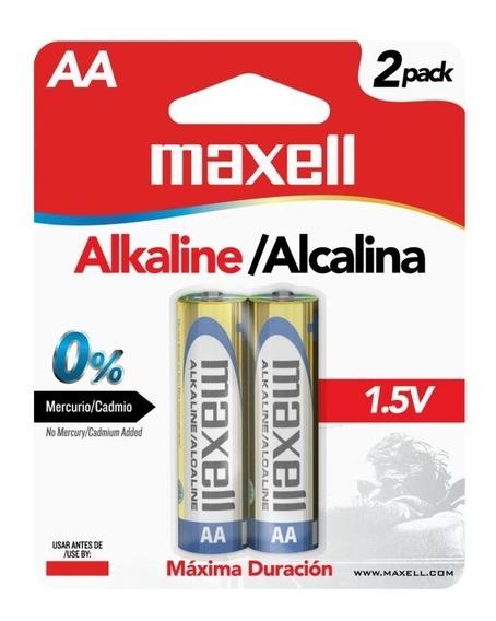 Pila Bateria Alcalina Aa Paquete De 2 Maxell