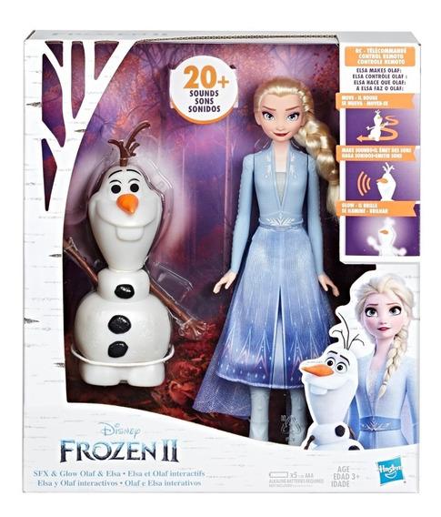 Muñeca Disney Frozen 2 Elsa Y Olaf Interactivos Hasbro E5508