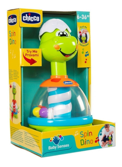 Juguete Para Bebe Electrónico Interactivo Spin Dino Chicco