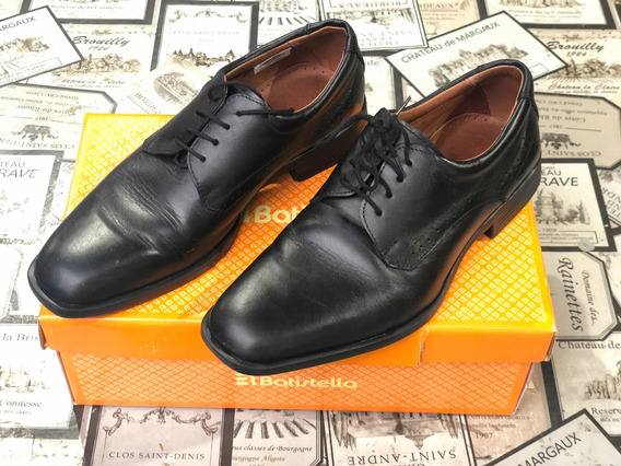 Zapato Batistella Negro. T. 40. Muy Poco Uso!!